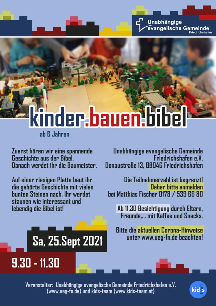 Unabhängige evangelische Gemeinde Friedrichshafen kinder.bauen.bibel - Legovormittag